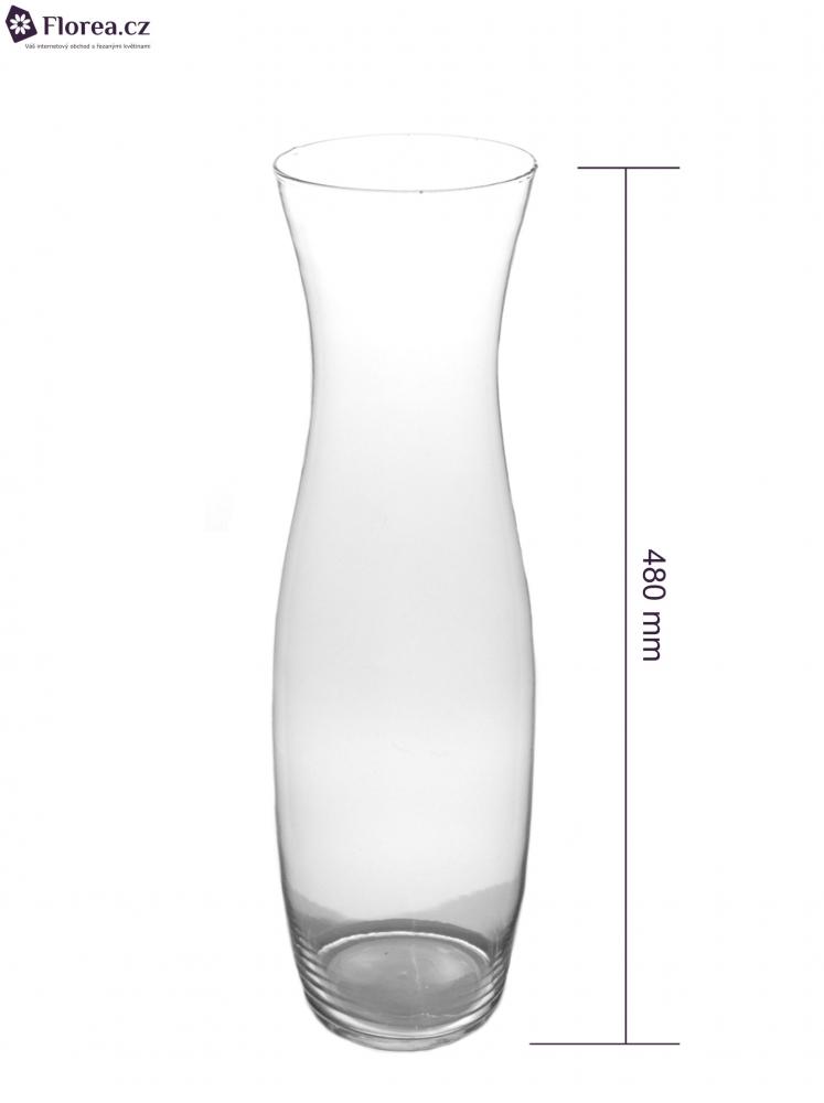 Skleněná váza 870624023 d12cm v48cm