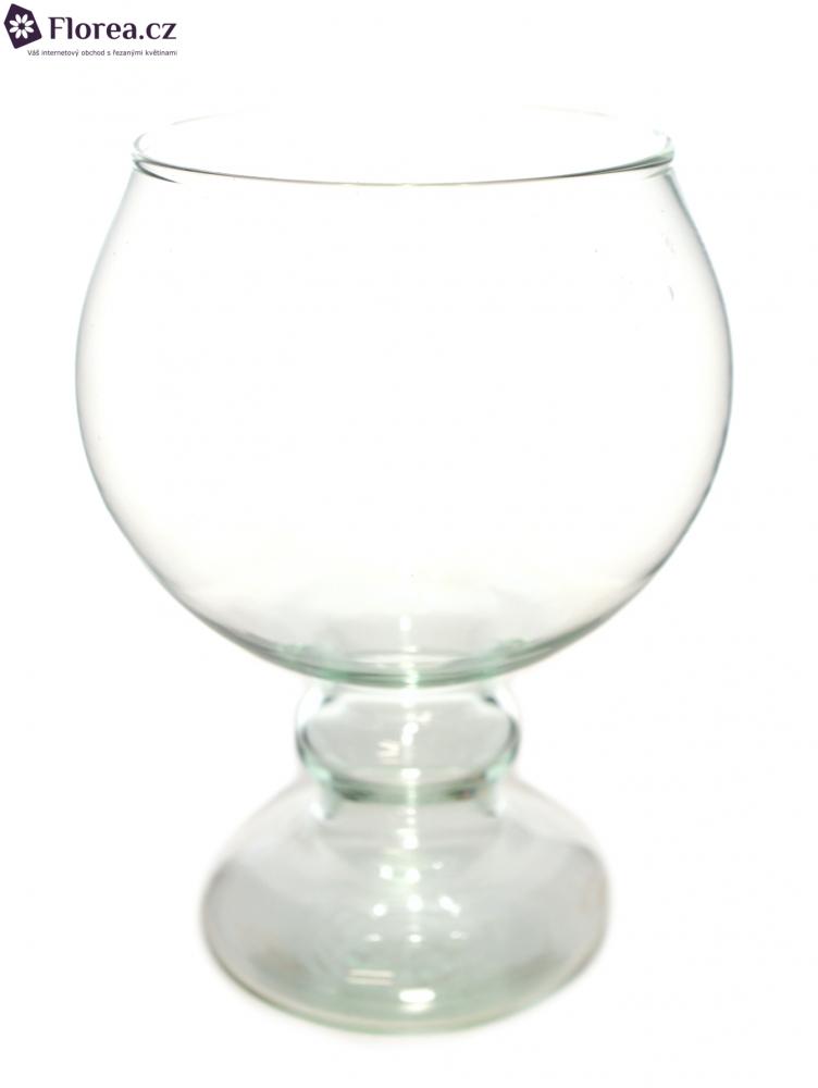 Skleněná váza 882353500 d11cm v19cm