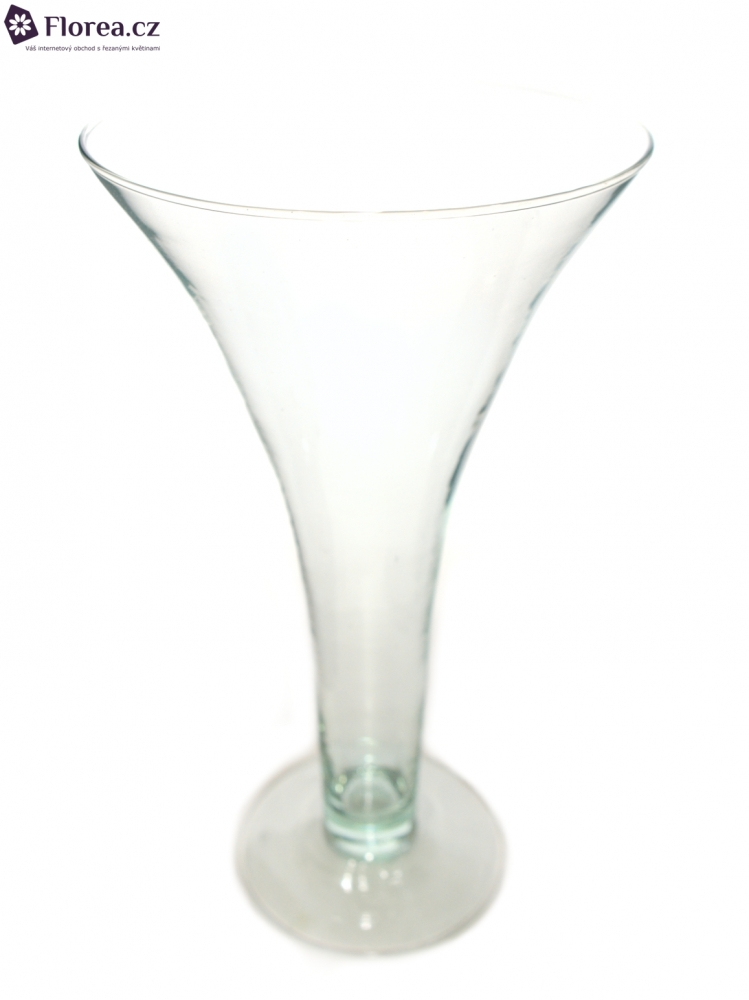 Skleněná váza EL TROMPETA DUO d16cm v30cm