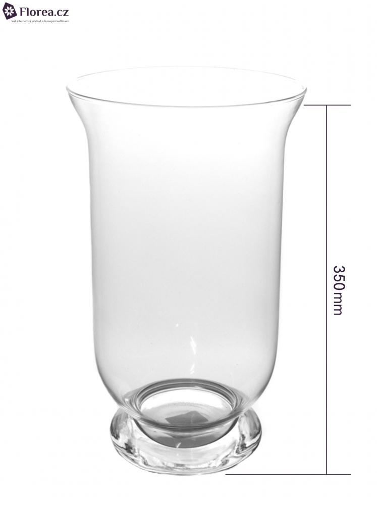 Skleněná váza HURRICANE d18cm v35cm