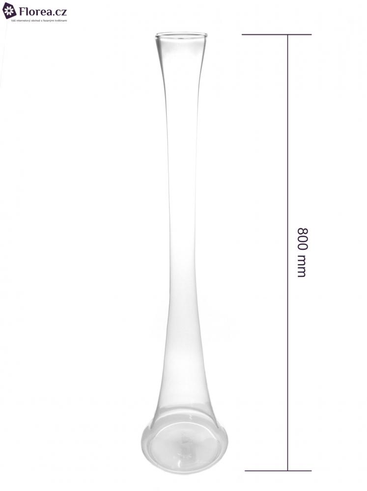Skleněná váza PIPE d8cm v80cm
