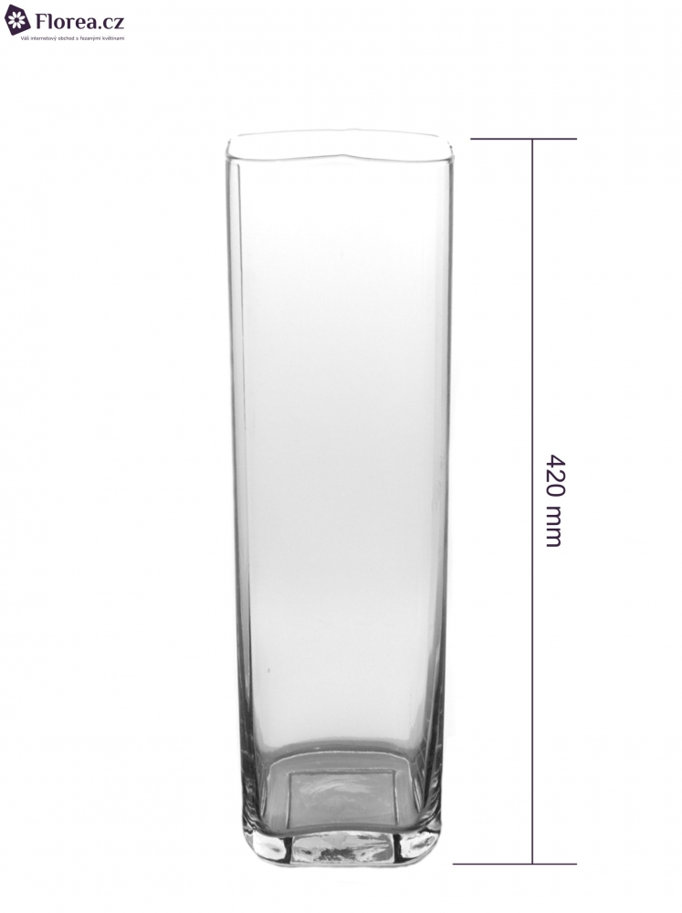 Skleněná váza SQROUND d12cm v42cm
