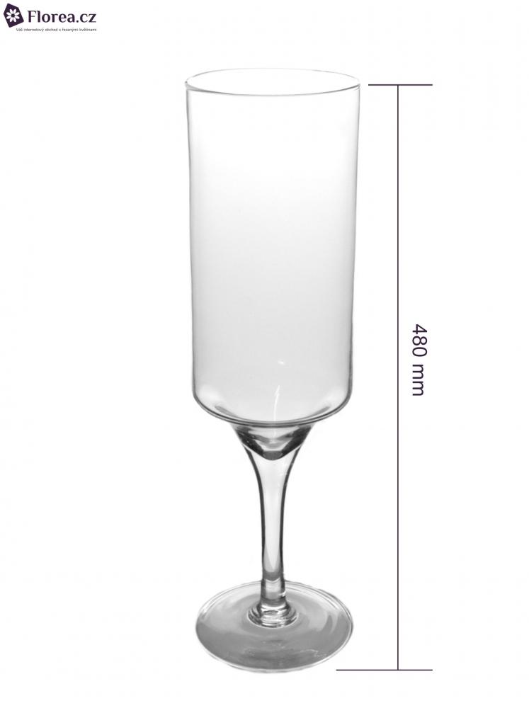 Skleněná váza TORUN d12cm v48cm