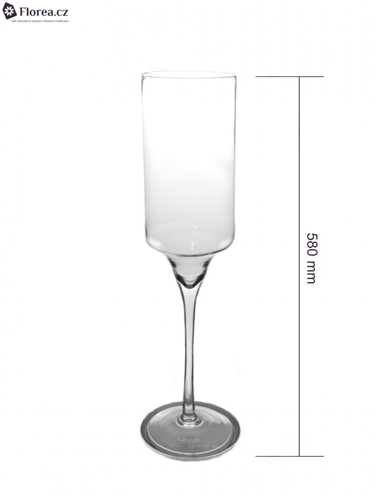 Skleněná váza TORUN d12cm v58cm