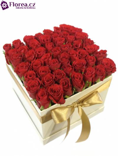 Krabička růží bílá JIANNIS 16x16x13cm