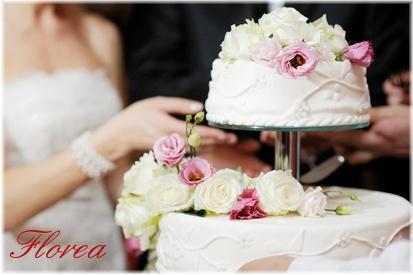 Květiny na svatební dort