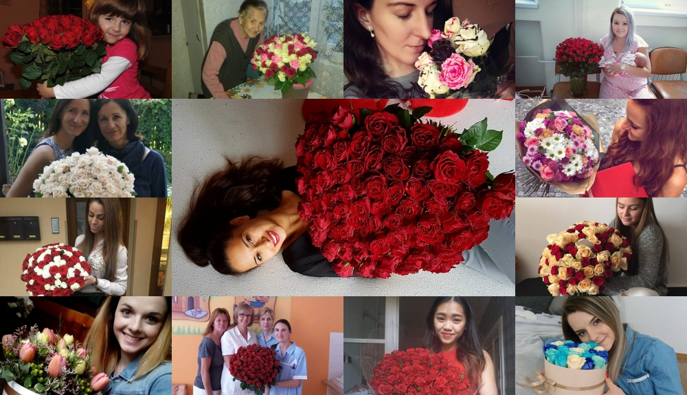 Radost z darovaných květin - fotografie od našich zákazníků