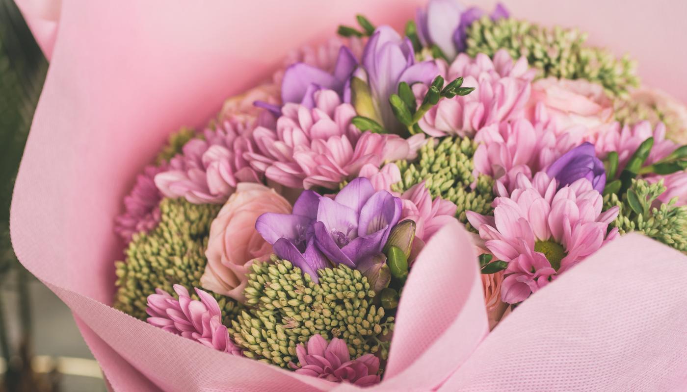 Míchaná květina na Valentýna