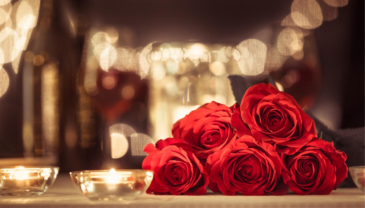 Romantické červené růže