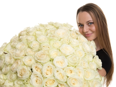 Kytice 100 růží Florea