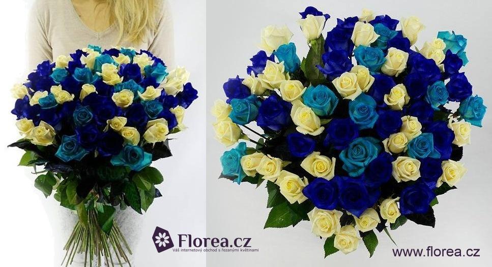 Modré růže mix