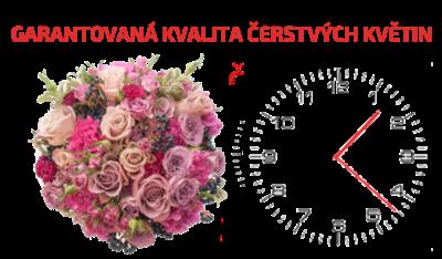 Čerstvé květiny se zárukou