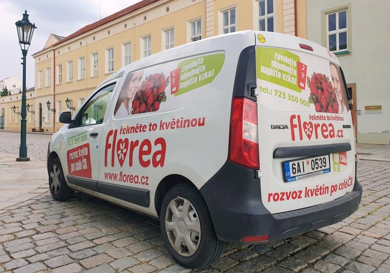 Rozvoz květin chlazenými vozy Florea