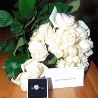 Elegantní i romantické bílé růže