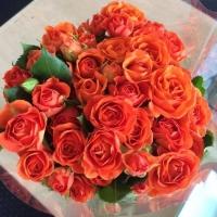 Představujeme: kytice oranžových růží
