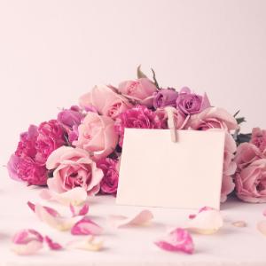 Valentýnská kytice se vzkazem