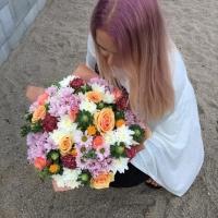 Doručení narozeninové kytice