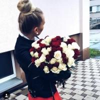 Doručená kytice růží