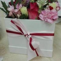 Doručená květinová krabička