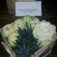 Doručení květinové krabičky