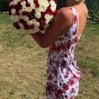 Sto růží - míchaná kytice
