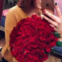 Kytice sto červených růží