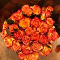 Kytice oranžových růží Outlaw