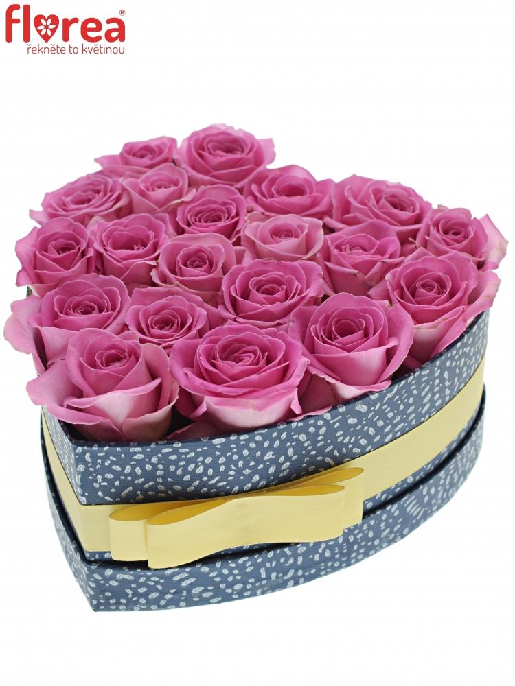 cc1d08fab Krabička růží AQUA modrá 19x9cm