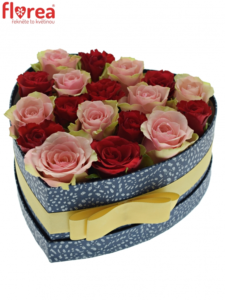 088aa7668 Krabička růží ROSEBELLINE modrá 19x9cm | Florea
