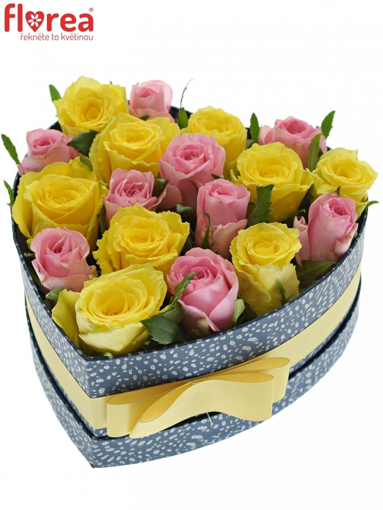 9c4fdbdb6 Krabička růží SHANILLA modrá 19x9cm | Florea