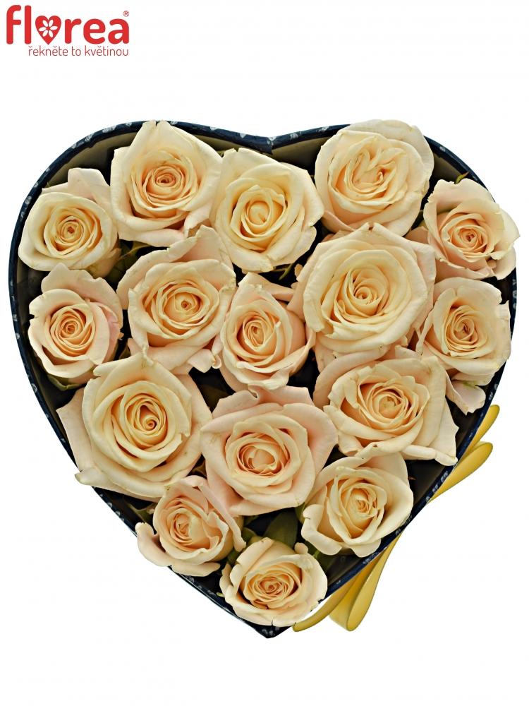 03c19709d Krabička smetanových růží MEDEO modrá 15x8cm | Florea