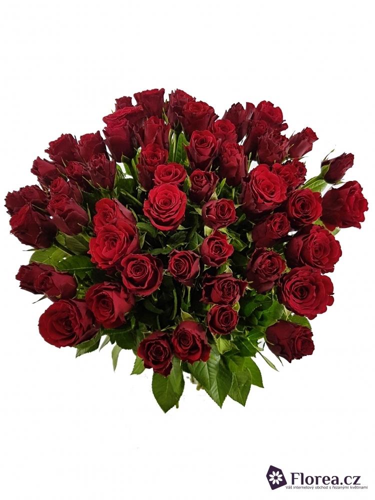 Kytice 55 růží PRESTIGE 60cm