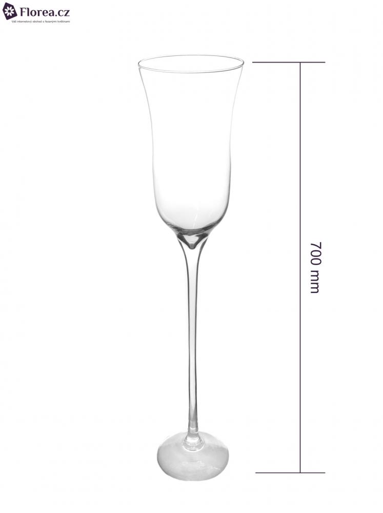 Skleněná váza CAIRNS d15cm v70cm