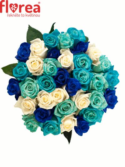 Kytice 35 modrých růží ALDARA