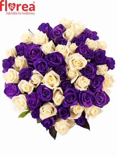 Kytice 55 barvených růží AUGUSTINA