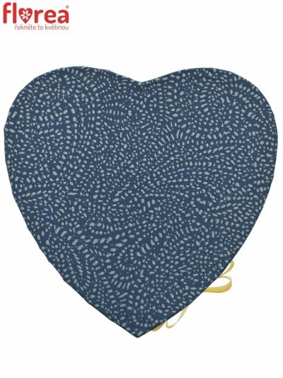 Dárková krabička Florea heart blue medium 19x9cm