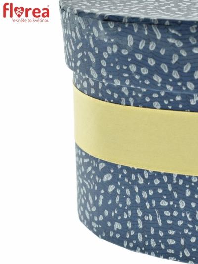 Dárková krabička Florea heart blue mini 15x8cm