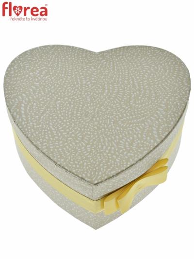 Dárková krabička Florea heart champagne medium 19x9cm