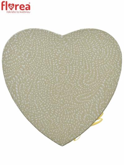 Dárková krabička Florea heart champagne mini 15x8cm