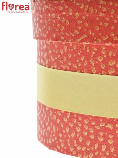 Dárková krabička Florea heart red large 24x10cm
