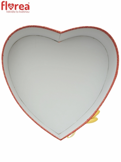Dárková krabička Florea heart red medium 19x9cm