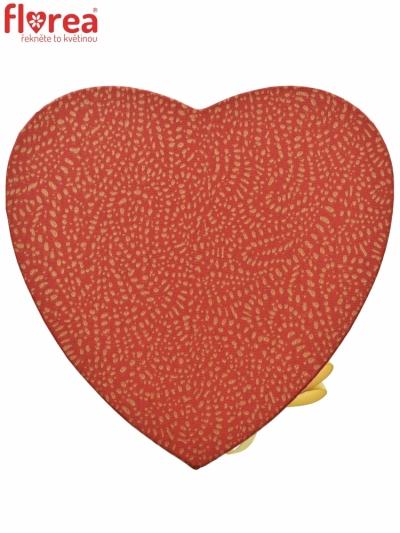 Dárková krabička Florea heart red mini 15x8cm
