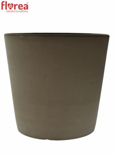 Keramický obal na květináč hnědý v23cm/d25cm
