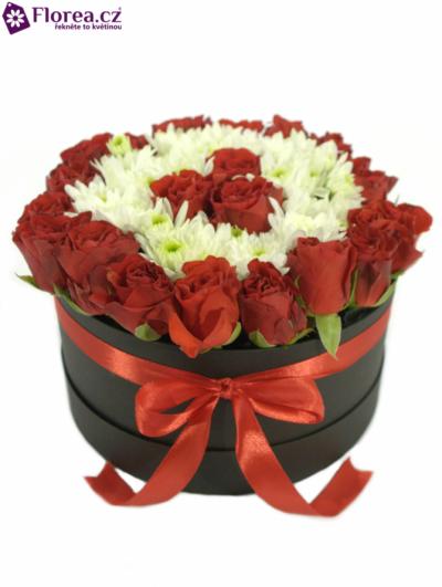 Krabička květin černá CYNTHIA Ø20v10cm