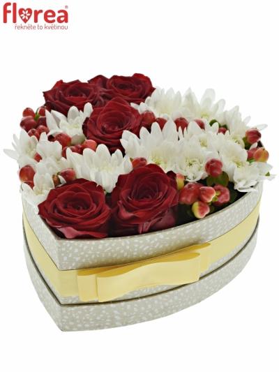 Krabička květin ALETHA šampaň 19x9cm