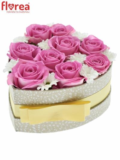 Krabička květin AQUINA šampaň 15x8cm