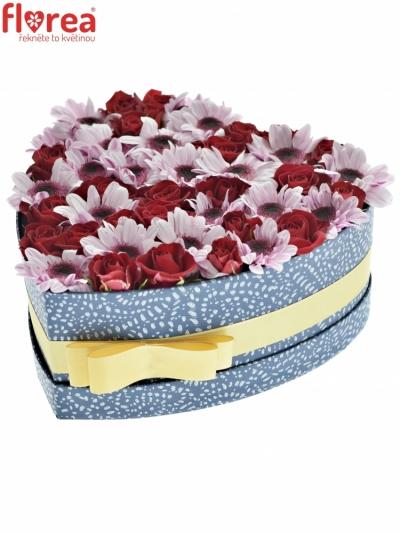 Krabička květin AURELIA modra 24x10cm