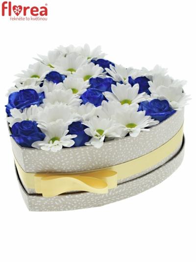 Krabička květin BANDOLINA šampaň 24x10cm