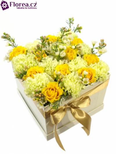 Krabička květin bílá JENESIS 16x16x13cm