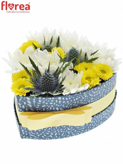 Krabička květin BLUEAYA modrá 15x8cm